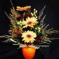 Fall Gerber Arrangement Fresh Vase