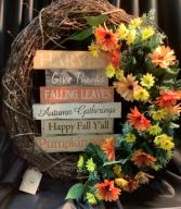 Fall Wreath WF-F002 Fall Grapevine Wreath