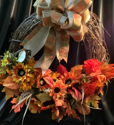 Fall Wreath WF-F004 Fall Grapevine Wreath