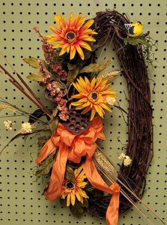 Fall Greetings SILK Wreath