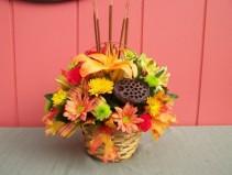 Fall Happiness Basket Arrangement