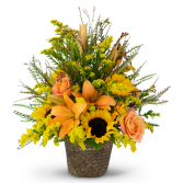 Fall Harvest Basket Arrangement