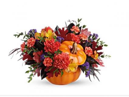 Fall harvest Ceramic keepsake pumpkin