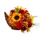 Fall Harvest Cornucopia Centerpiece