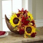 Fall Harvest Cornucopia The FTD® Bouquet by Better Homes & Gardens
