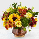 Fall Harvest Designer Vase