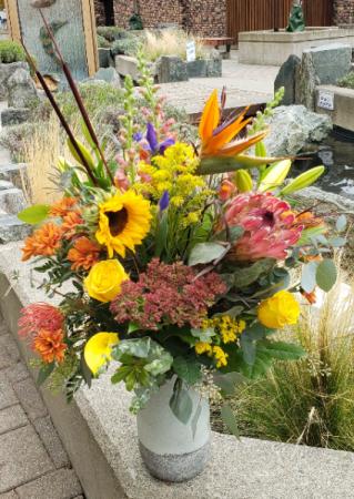 Fall Harvest Large Vase Arrangement