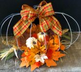 Fall Harvest Pumpkin Centerpiece  Silk Arrangement
