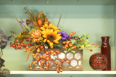 Fall Harvest Silk Floral Arrangement