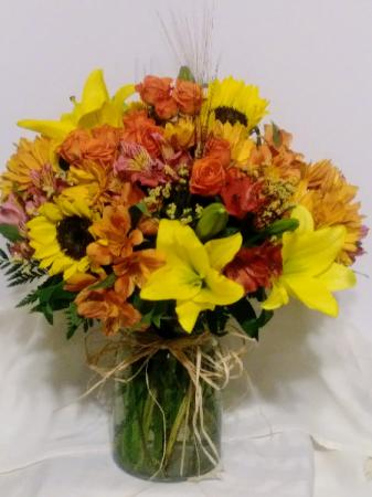 Fall Harvest Vase Arrangement