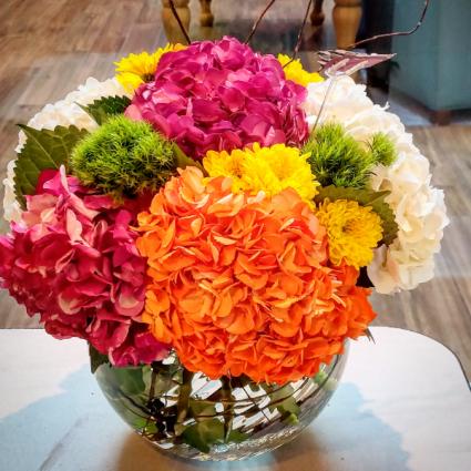 Fall Hydrangea Vase