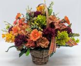 Fall in Flowers Basket A