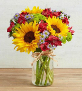 Country Fall  Sunflower Floral