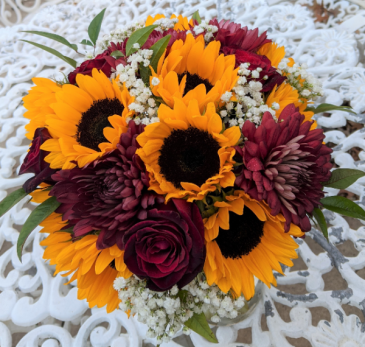 Fall-ing Into Love Autumn Bridal Bouquet Wedding Flowers