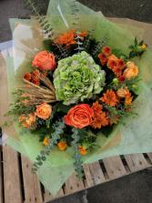 Fall into Antique Orange Bouquet