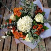 Fall into bronze eucalyptus Bouquet