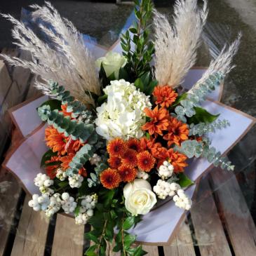 Fall Into Bronze Pampas Bouquet
