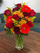 Fall is Here!  Vase Arrangement