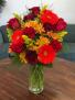 Fall is Here!  Vase Arrangement