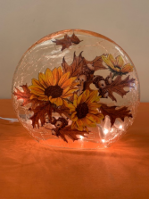 Fall Leaves and Sunflower Decorative Light Fall Product