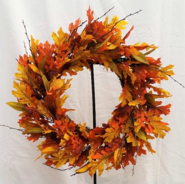 """Fall Leaves"" Silk Wreath Silk Wreath"