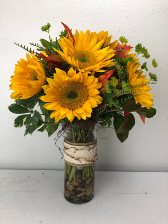Fall Leaves  Vase Arrangement