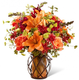 Fall Lovely Lantern Bouquet in Bryan, OH | Farrell's Lawn & Garden and Flowers