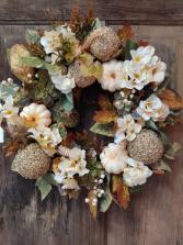 Fall Lush Wreath Silk Flower Arrangement