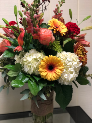 Fall Masterpiece Large Vase Arrangement in Fairfield, CT | Blossoms at Dailey's Flower Shop