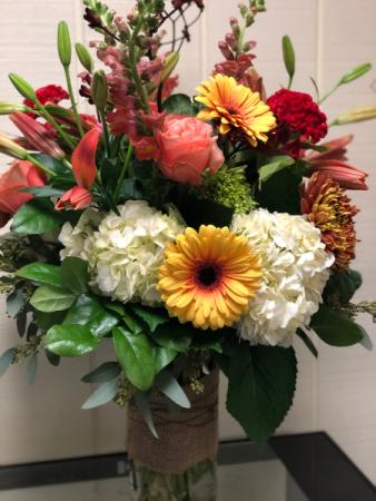 Fall Masterpiece Large Vase Arrangement