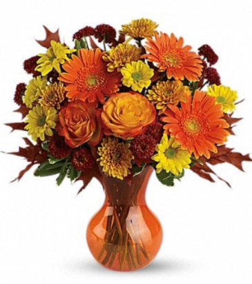 Fall mixed seasonal flowers Vase
