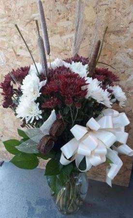 Fall Mum  Vase Arrangement