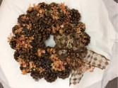 Fall Pinecone Wreath with Glitter bow Artificial
