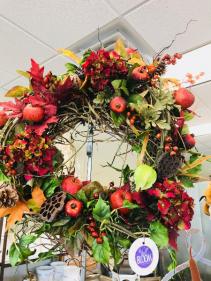 Fall Pomegranate  Wreath