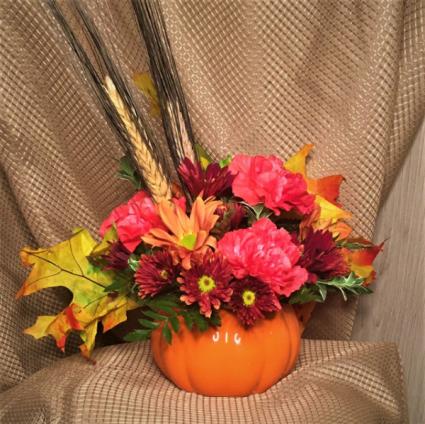 Fall Pumpkin Arrangement Fall