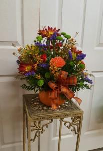 Fall Pumpkin Arrangement  Thanksgiving / Fall Centerpiece