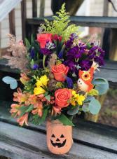 Fall Pumpkin Harvest Fresh Arrangement