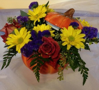 Fall Pumpkin Pumpkin Container Arrangement