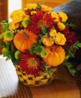 Fall Pumpkin Surprize Fall arrangement