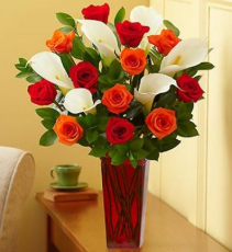 Fall Rose and Calla Lily Bouquet Arrangement