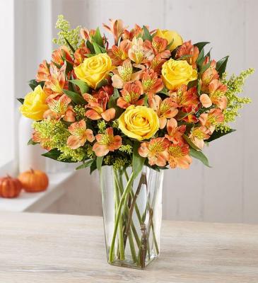 Fall Rose & Peruvian Lily Bouquet