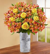 Fall Rose & Peruvian Lily Bouquet Arrangement
