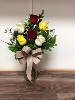 Fall rose  Vase arrangement