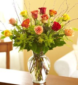 Fall Roses Vased