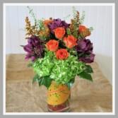 Fall Rosey Posey Fall Vase