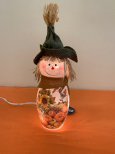 Fall Scarecrow Glass Light Decoration Fall Product