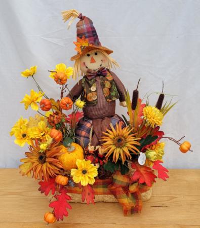Fall Scarecrow  Silk Arrangement