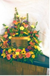 Fall Seasonal Urn Wreath
