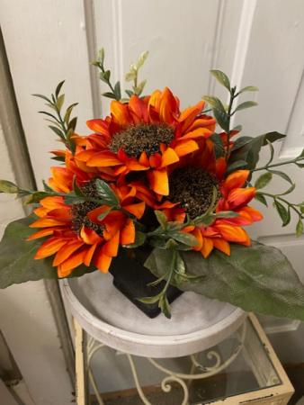 Fall silk sunflower arrangement Keepsake