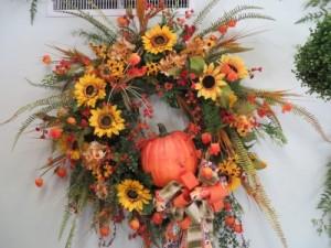 Fall Silk Wreath 16      Silk Wreath in Farmville, VA | CARTERS FLOWER SHOP